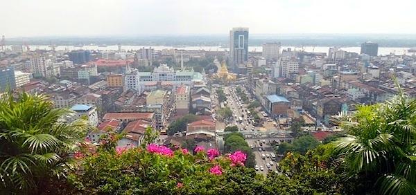 ヤンゴン市全景