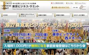 東京ビジネスサミット2013