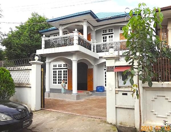 ミャンマー 無料 宿泊 滞在 ゲストハウス 外観